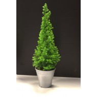 Top Point Mini Christmas Tree in Silver Pot