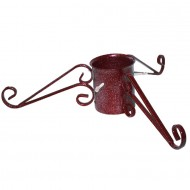 Christmas Tree Stand - Oranate Heavy Duty Mulberry RED Sparkly Stand - 5inch - HEAVY DUTY