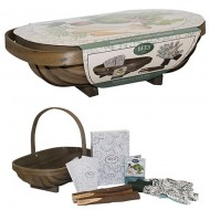 Gardener's Gift Set - Allotment Vegetable Collection with Seeds, Garden Trug, Plant Markers and Gloves